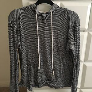striped comfortable sweatshirt